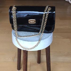Michael Kors Black Patent Leather Crossbody Bag